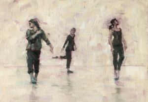 Erin Atkinson, Marie Guiraud and Jade Cawthraw (Ballet Cymru rehearsal 214)