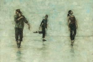 Erin Atkinson, Marie Guiraud and Jade Cawthraw (Ballet Cymru rehearsal 216)