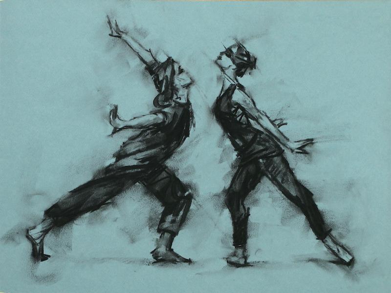 Erin Atkinson and Nina Kramberger (Ballet Cymru rehearsal 217)