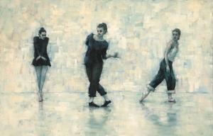 Peri Gulen, Marie Guiraud and Reeta Riikonnen (Ballet Cymru rehearsal 218)