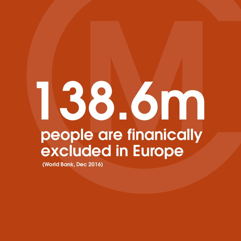 138 million people are financially excluded in Europe