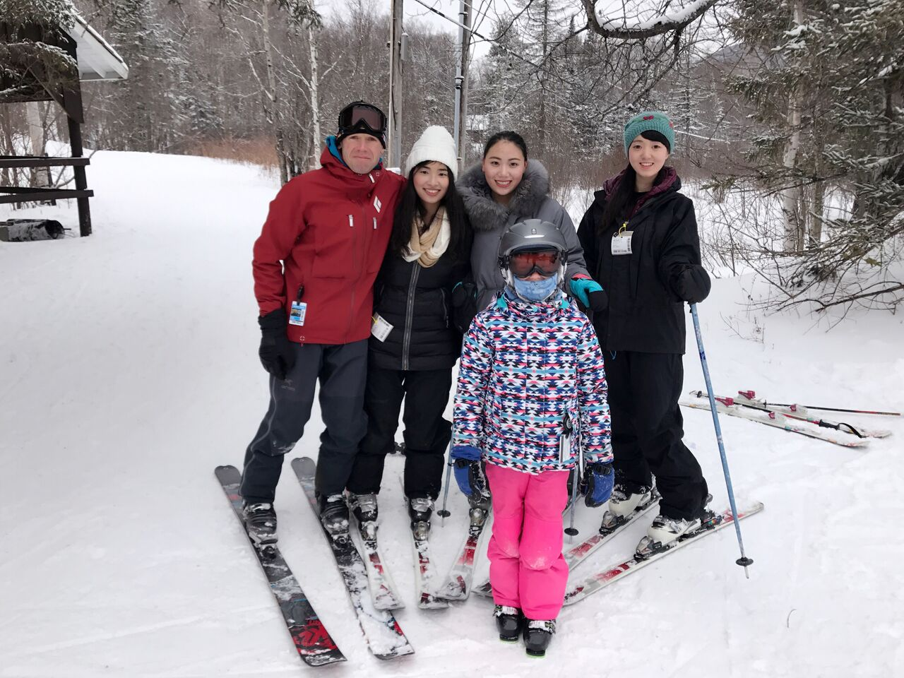 Skiing with Host Family
