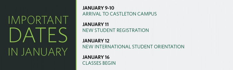 Important Dates for International Students