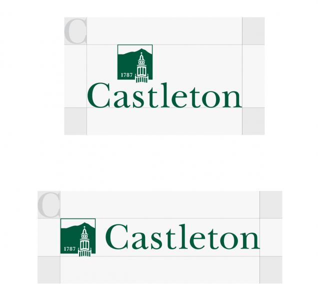 Spacing around the Castleton logo