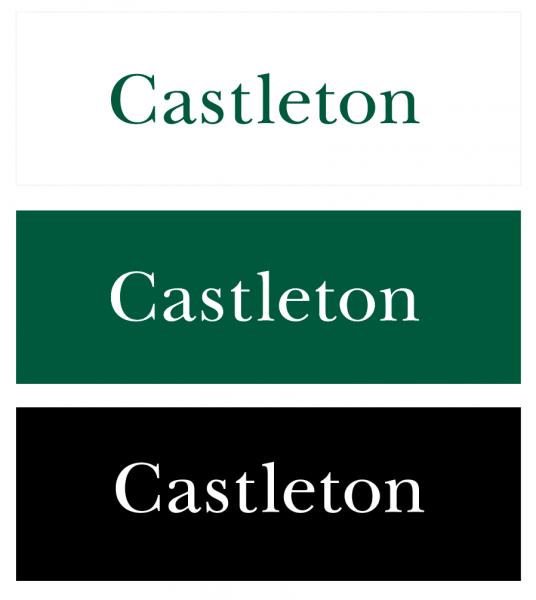 Castleton's stand-alone wordmark
