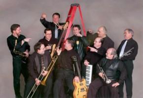 Satin & Steel band on ladder