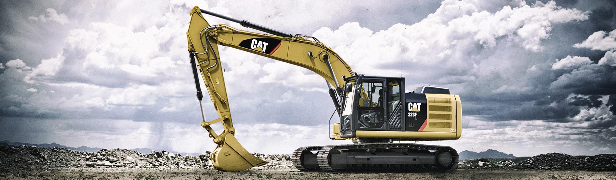 The new Cat 323F L Excavator