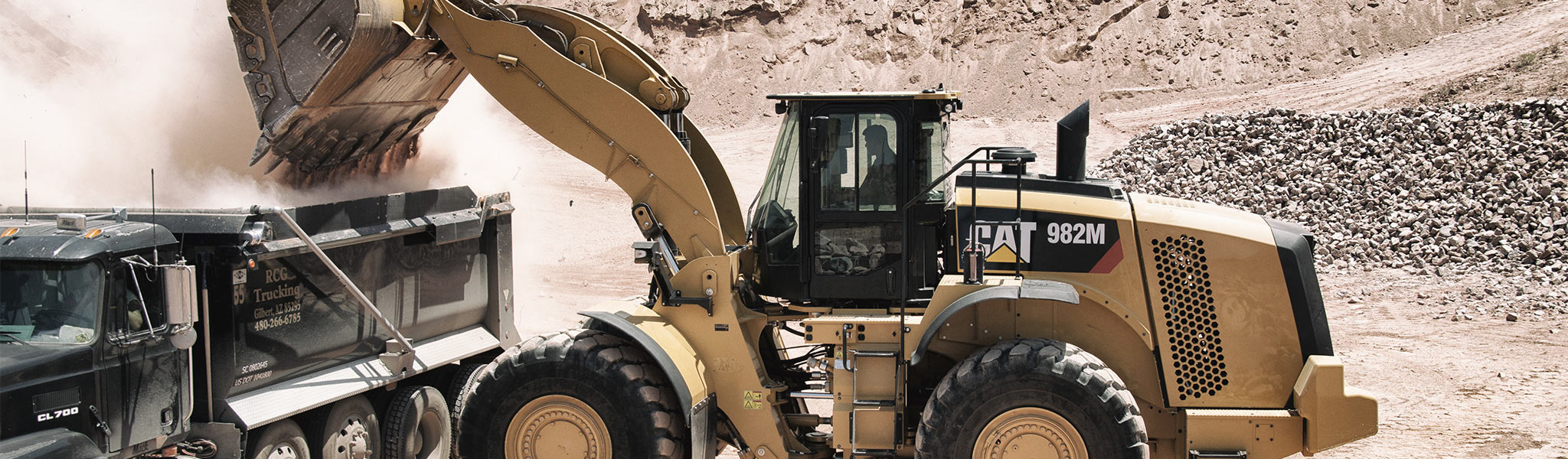 The 982M is a new model in the Cat® M Series medium wheel loader line,