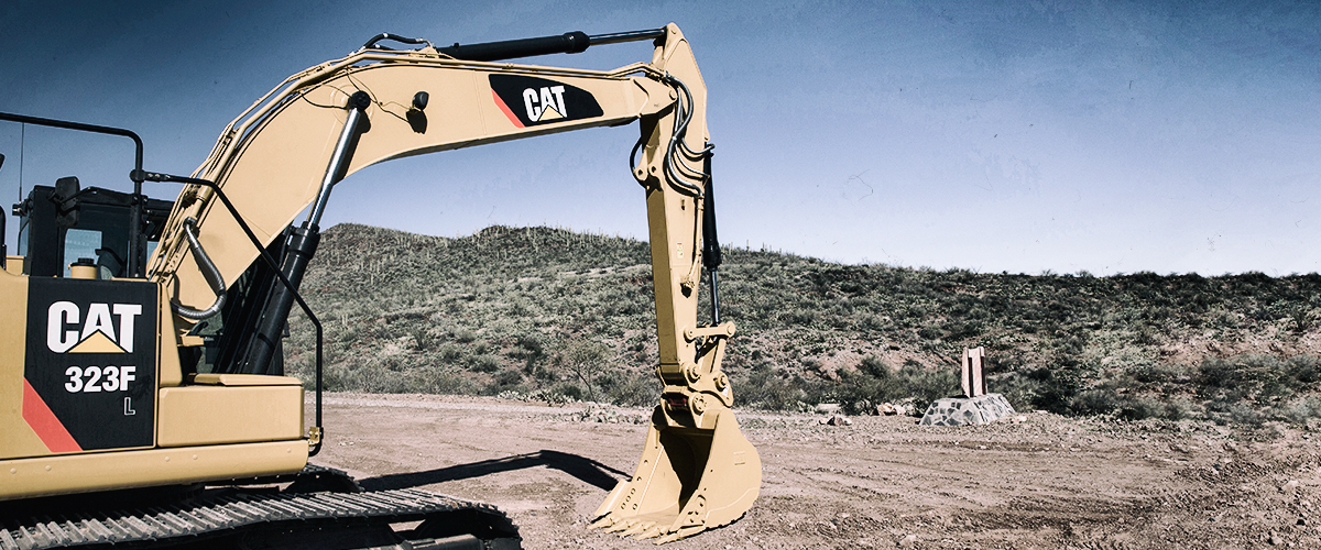 Cat 323F with Grade with Assist