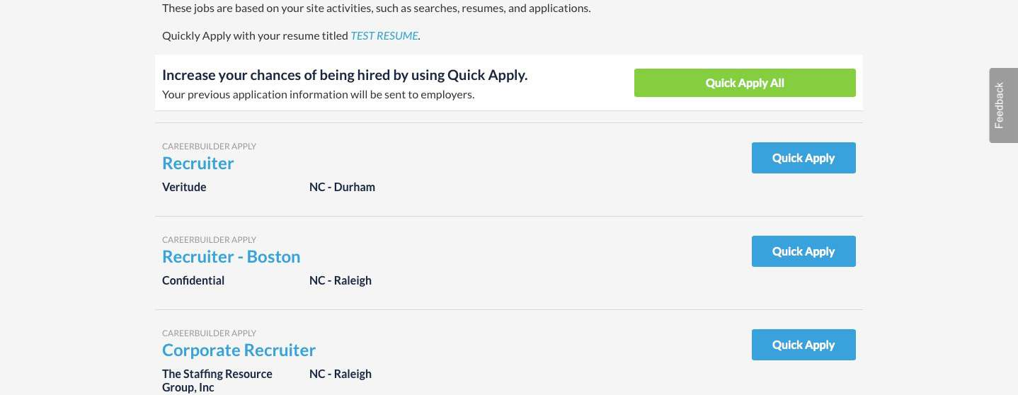 careerbuilder unveils quick apply all feature to simplify it s still important to customize your application materials and elevator pitch for each position as much as possible so in your follow ups hiring