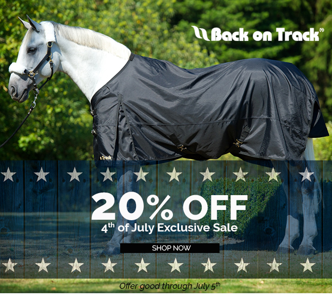 4th of July Exclusive Sale Back on Track 20% OFF Everything