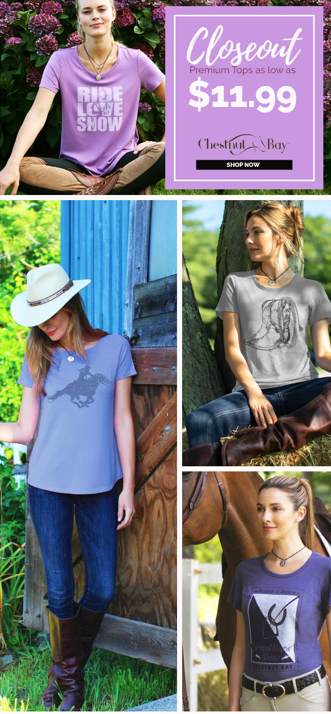 Exclusive! Chestnut Bay Closeout Premium Tops as low as $11.99