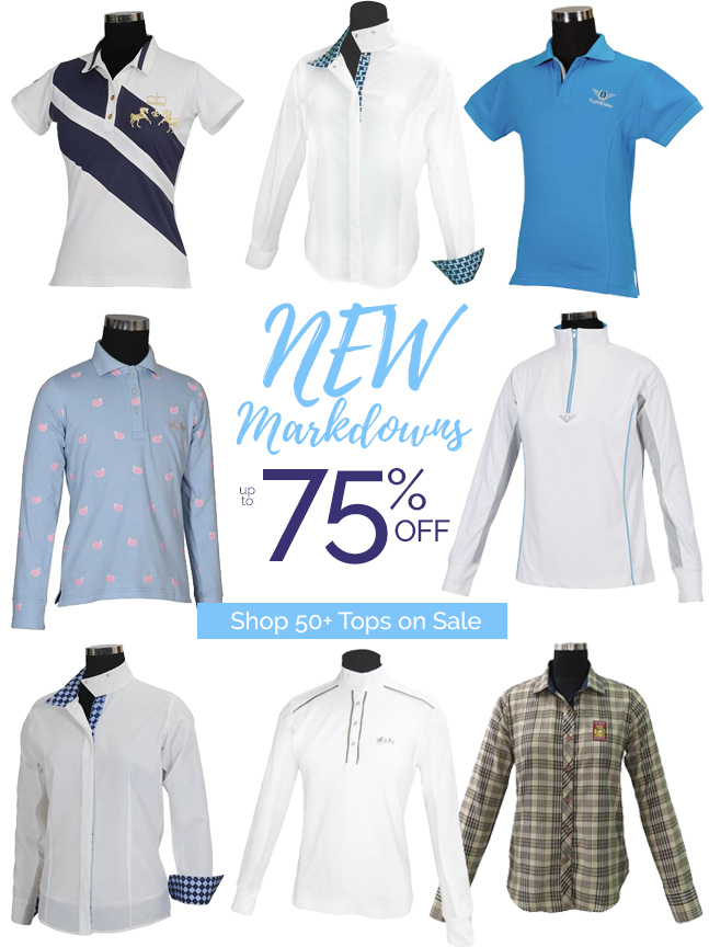 New Markdowns!  50+ Tops on Sale Up to 75% OFF