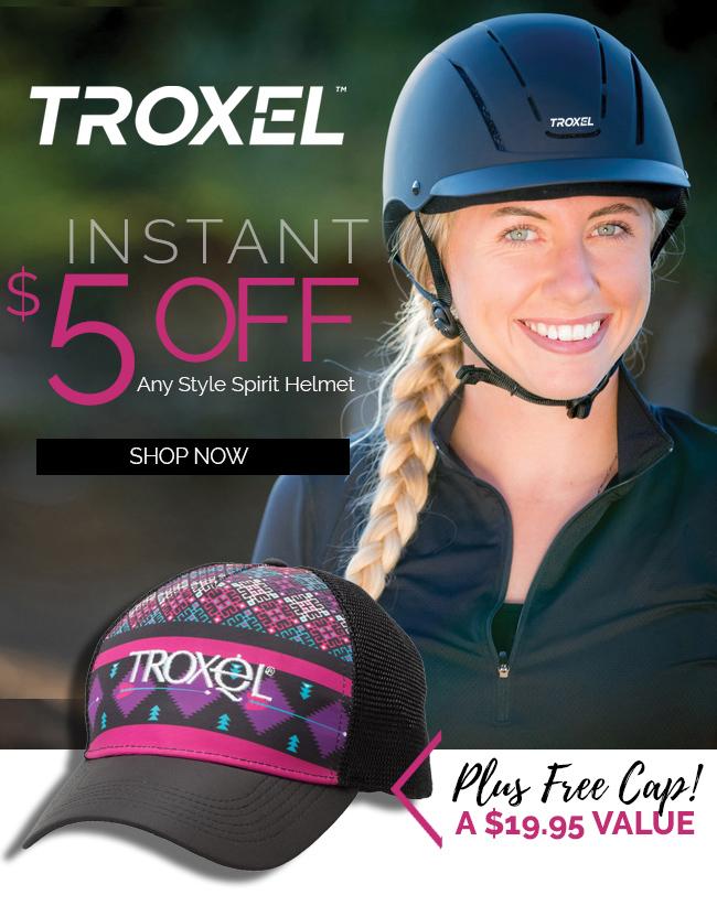 Troxel Spirit Helmet Instant $5 OFF Any Style + FREE Cap