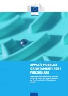 Appalti pubblici: orientamenti per i funzionari (Guida Ue)