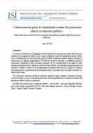 Valutazione del grado di vulnerabilità sismica del patrimonio edilizio residenziale pubblico
