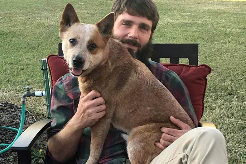 Australian Cattle Dog Rhetta and her owner Will Ransom on the Appalachian Trail