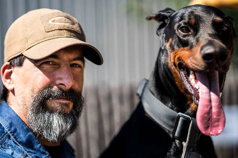 K9 Duke Doberman Pinscher and his Owner