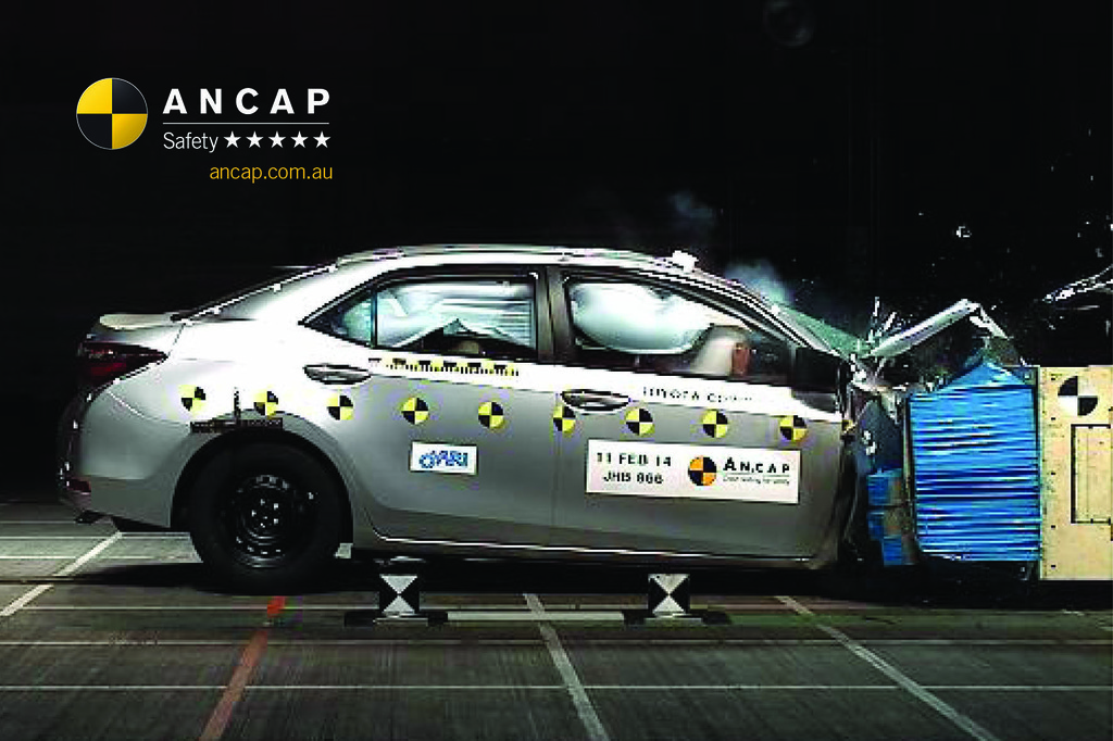 toyota corolla 2014 oct 2016 crash test results ancap. Black Bedroom Furniture Sets. Home Design Ideas