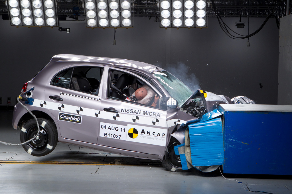 Nissan Micra Jul 2011 2016 Crash Test Results Ancap