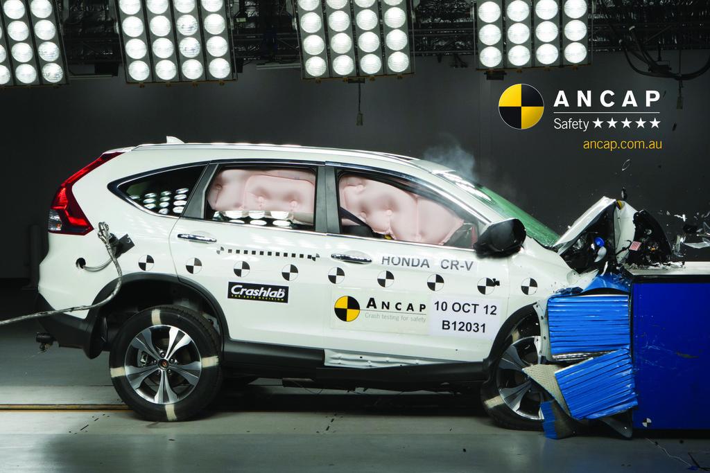 Honda cr v nov 2012 jun 2017 crash test results ancap for Honda crv crash test