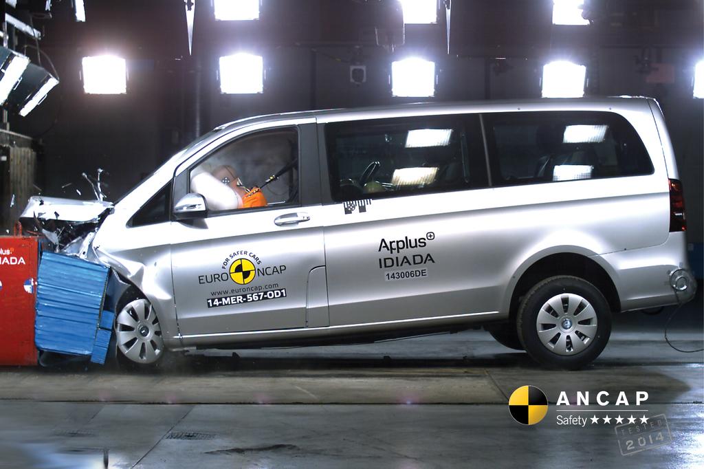 Mercedes benz vito jul 2015 onwards crash test results for Mercedes benz safety rating
