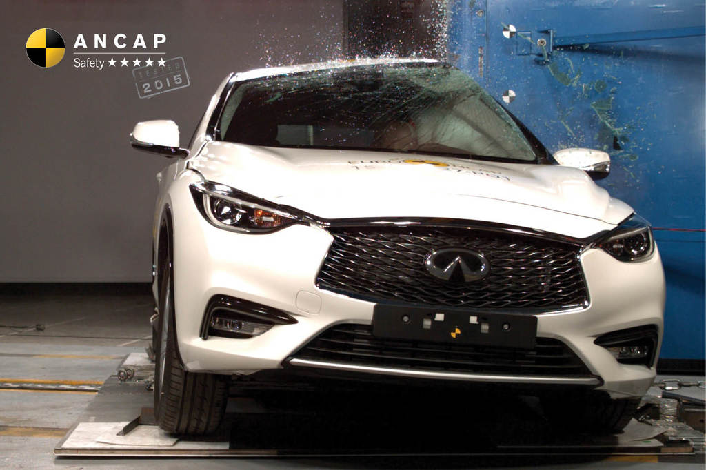 Infiniti Q30 hits Australian shores with top safety rating