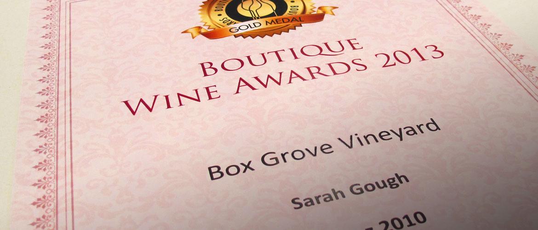 Box-grove-2010-shiraz-roussanne-wins-top-gold-medal-in-the-australian-boutique-wine-show