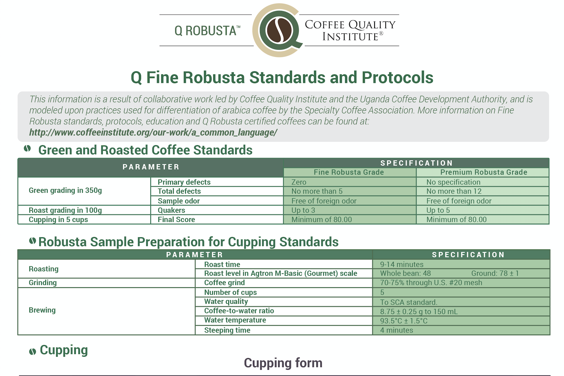 New Fine Robusta Resources