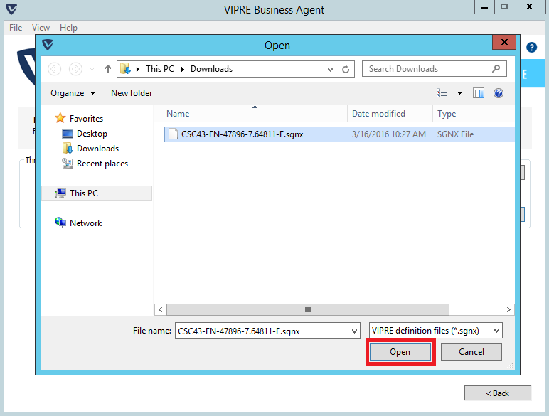 How to manually update Vipre definitions in