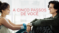 A estreia de 'A cinco passos de você' no cinema tá ...
