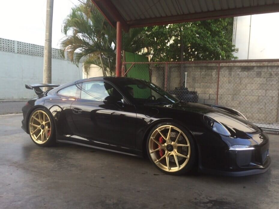 Porsche 991 GT3 with HRE P101 in Brushed Gold | HRE Performance Wheels