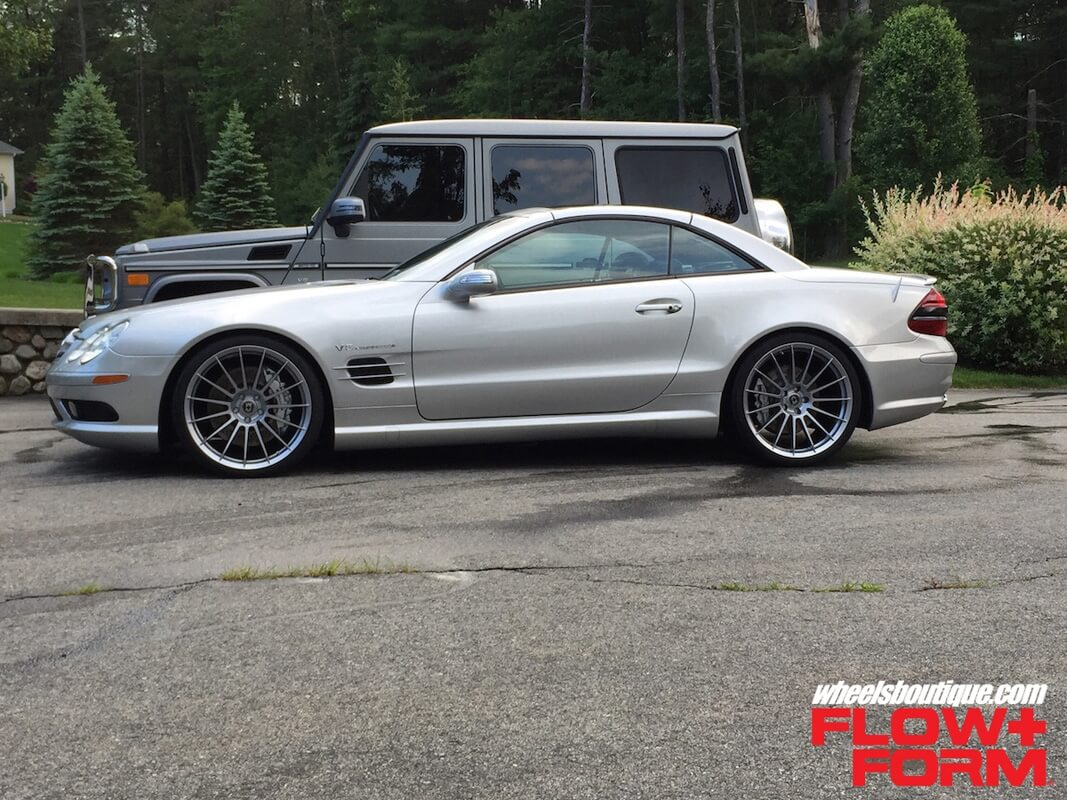 Mercedes Benz mercedes benz sl55 : Mercedes-Benz SL55 AMG with FF15 in Liquid Silver | HRE ...