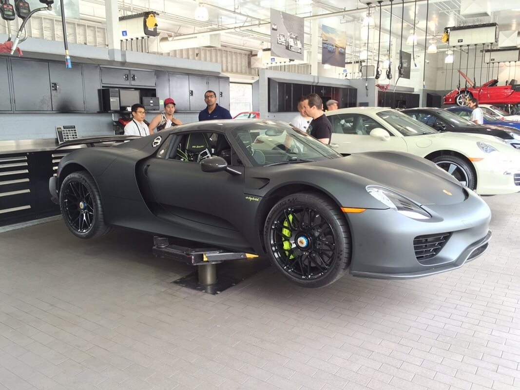 porsche 918 spyder black. porsche 918 spyder with hre rs100m in gloss black performance wheels