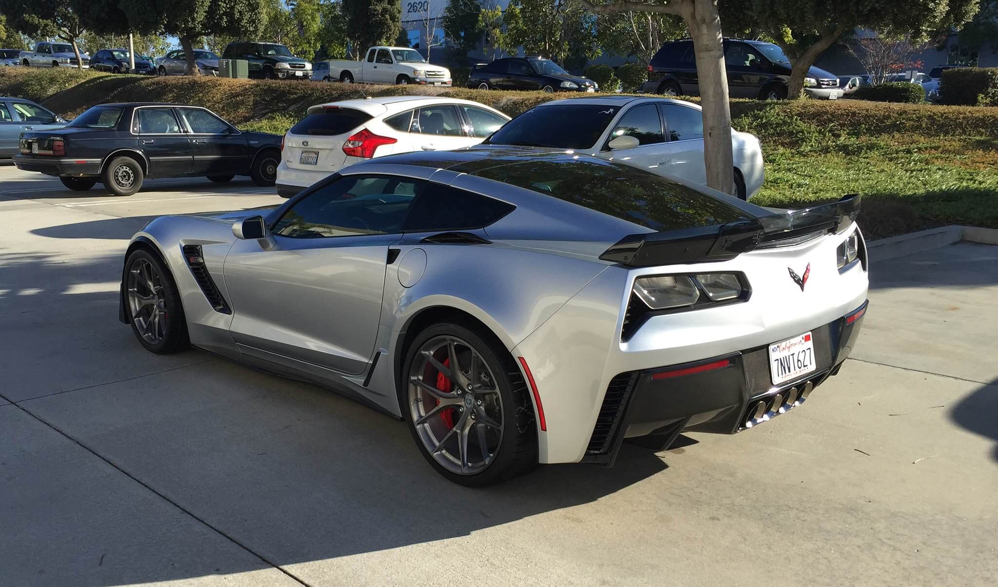 Chevrolet corvette z06 with hre p101 in brushed dark clear hre performance wheels