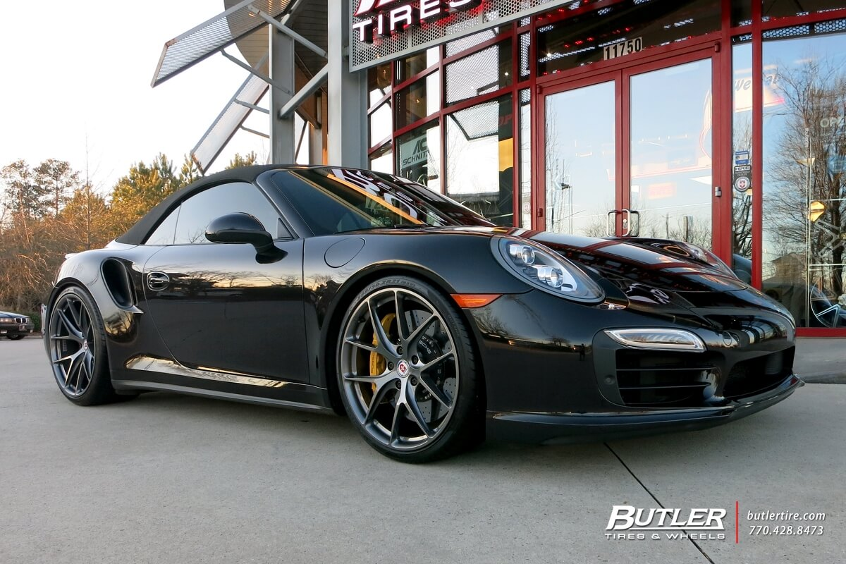 Porsche 991 Turbo with HRE P101 in Gloss Charcoal | HRE ...