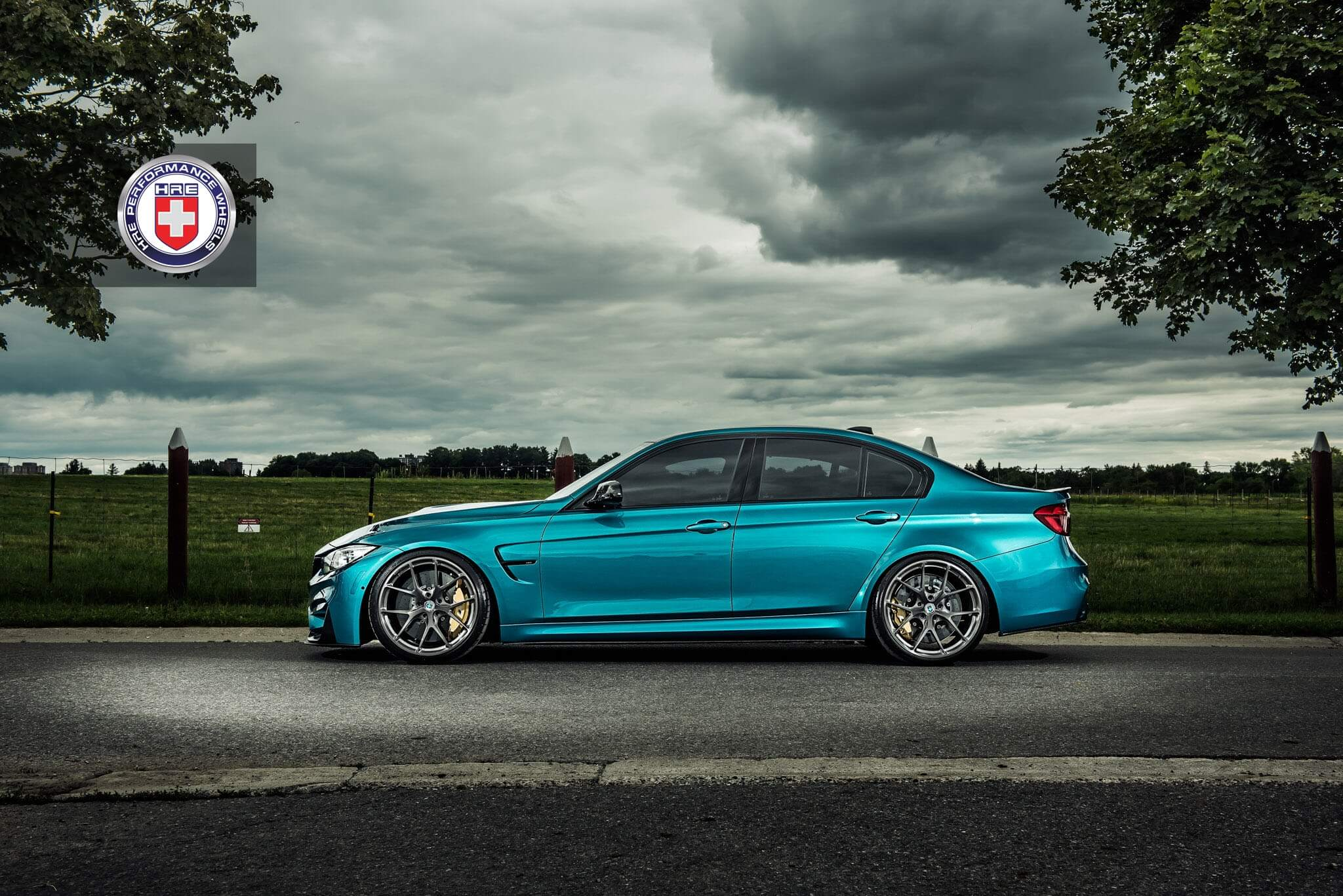 Atlantis Blue BMW M With HRE P In Brushed Dark Clear HRE - Blue bmw m3