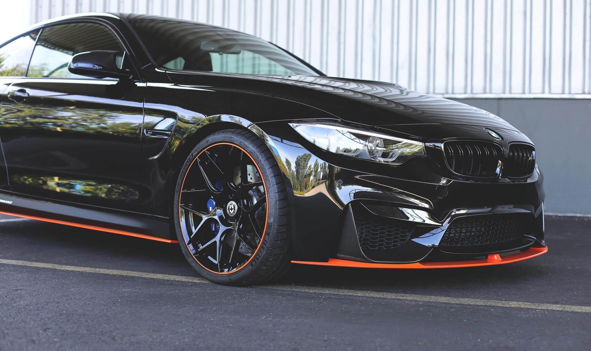 Black BMW M With FF In Liquid Black HRE Performance Wheels - Black bmw m4
