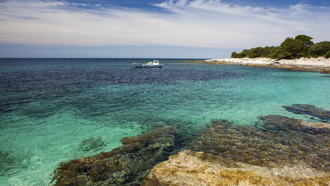 Praia da costa croata