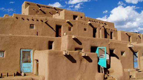 Um dos curiosos prédios de Taos, Novo México
