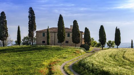 Toscana: até a estrada é bonita