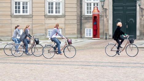 Ciclistas em Copenhagen