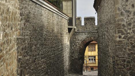 Rua medieval de Plovdiv