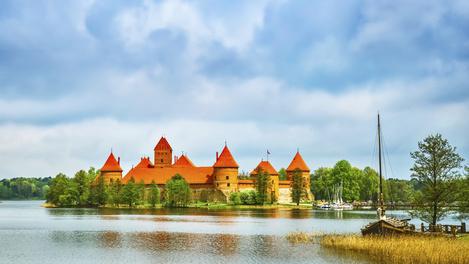 Castelo medieval em Trakai