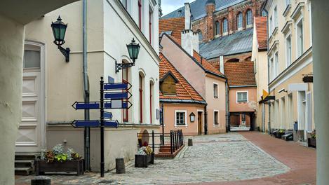 Construção medieval em Riga