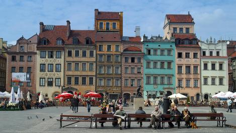 Praça em Varsóvia
