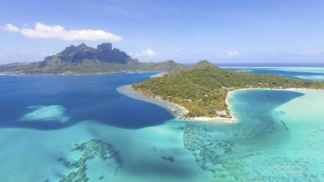 Vista da Polinésia Francesa