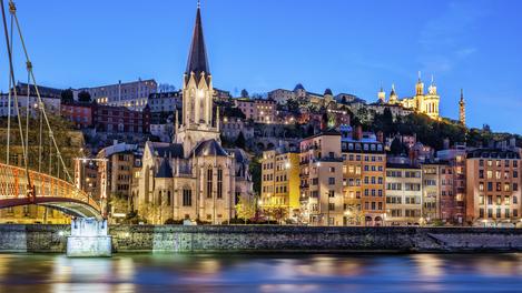 Lyon (vista do rio Saone)