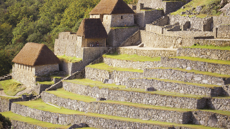 Construções na famosa Machu Picchu