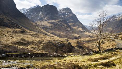 Glencoe, nas Highlands da Escócia